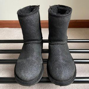 UGG Kids Classic Glitter Sparkly Suede Boots